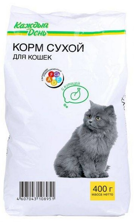 Сухой корм в упаковке